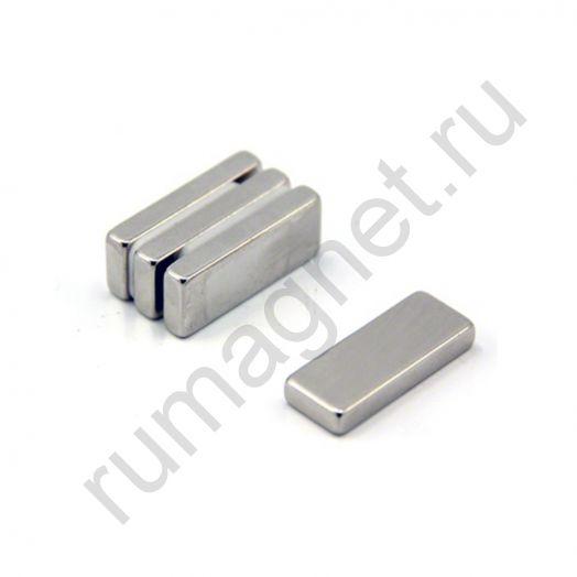 Неодимовый магнит прямоугольник 20x10х4 мм