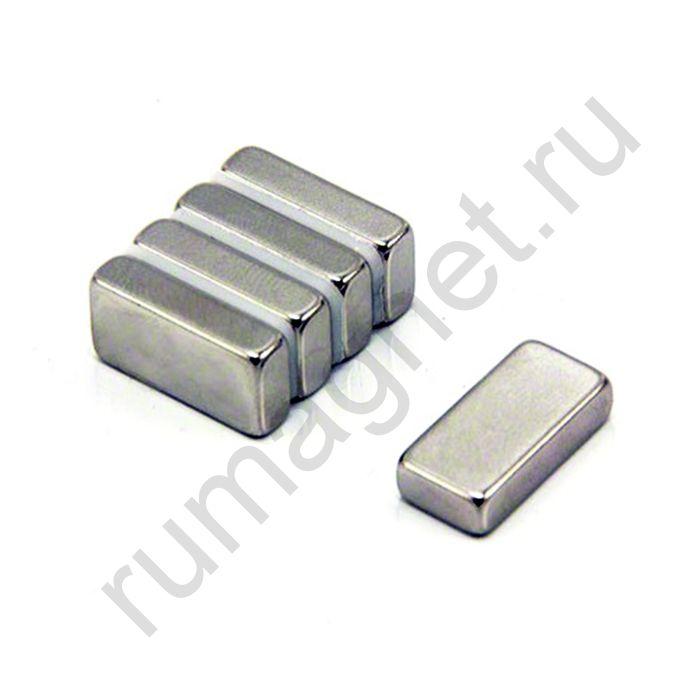 Неодимовый магнит прямоугольник 20x10х5 мм