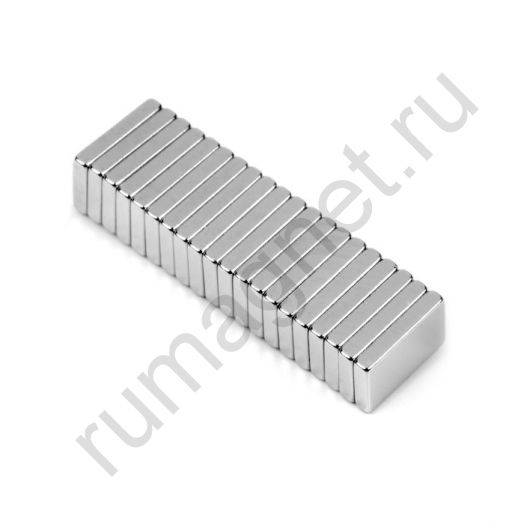 Неодимовый магнит прямоугольник 15x8х2 мм