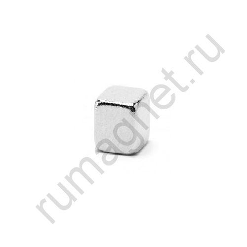 Неодимовый магнит прямоугольник 5x5х6 мм