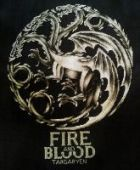 "Cross stitch pattern ""Fire and Blood""."