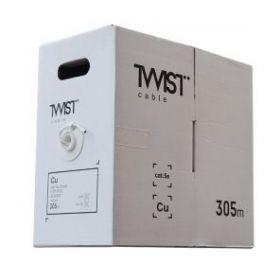 Кабель UTP 4 пары внутренний Cat.5е TWIST cable