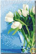 """Картина по номерам """"HOBBART Lite. Белые тюльпаны"""" 20х30"""