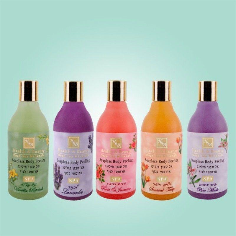 Увлажняющий жидкий скраб для тела с пониженным содержанием мыла Роза и Жасмин Health & Beauty (Хелс энд Бьюти) 250 мл