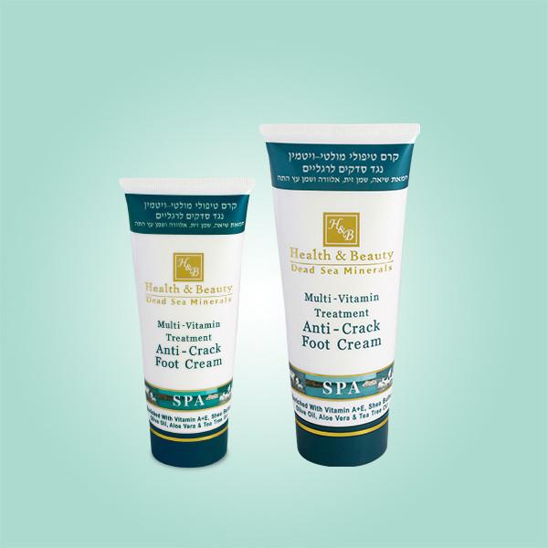 Мультивитаминный лечебный крем для ног против трещин Health & Beauty (Хелс энд Бьюти) 100 мл