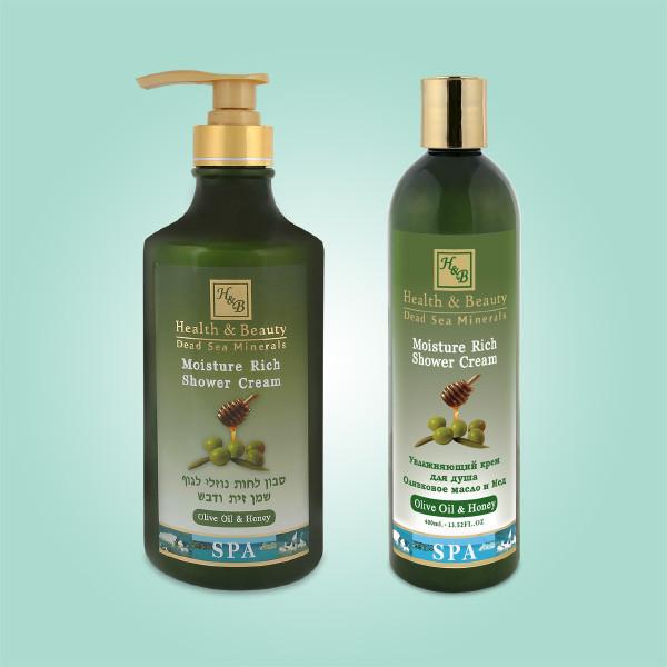 Увлажняющий крем для душа Оливковое масло и Мед Health & Beauty (Хелс энд Бьюти) 780 мл
