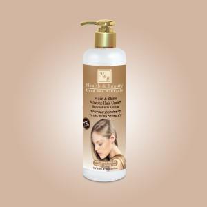 Увлажняющий крем для волос с силиконами Обогащённый Кератином Health & Beauty (Хэлс энд Бьюти) 400 мл