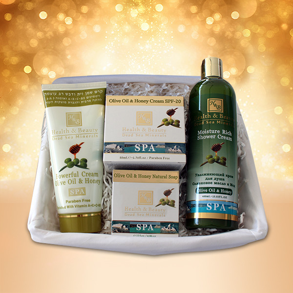 Подарочный набор на основе Оливкового Маслa Health & Beauty (Хелс энд Бьюти)  4 предмета (hb101, hb220, hb293, hb229)