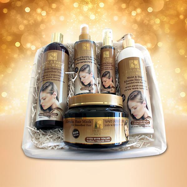 Подарочный набор на основе кератина Health & Beauty (Хелс энд Бьюти) 5 предметов