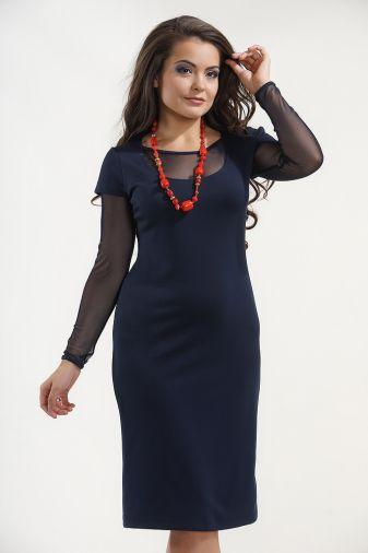Платье 865 Т-Синий