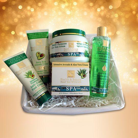 Подарочный набор Авокадо и Алоэ Вера Health & Beauty (Хелс энд Бьюти) 5 предметов