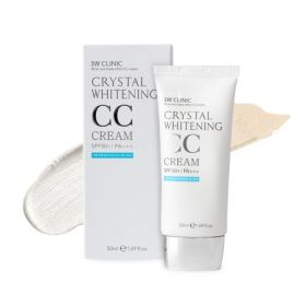 3W CLINIC CRYSTAL WHITENING CC CREAM SPF50 PA+++ 50ml - ОСВЕТЛЯЮЩИЙ CC КРЕМ