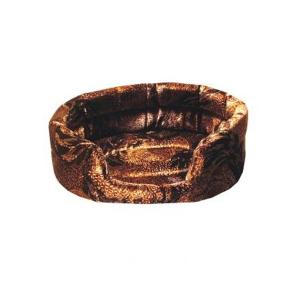 Мягкий лежак Yami-Yami овальный №1 флок для кошек 42х37х15см