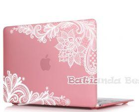 """Розовая прозрачная пластиковая накладка для Macbook Air 13"""" + бонусы в комплекте"""