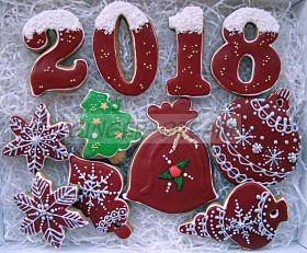 Новогодние пряники ручной работы   Новогодние подарки