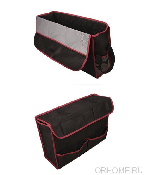 Комплект из 2-х органайзеров с крышками для багажника автомобиля, 48/96*15*36см