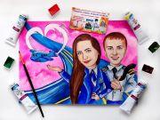 Шарж по фото подарок в Ульяновске