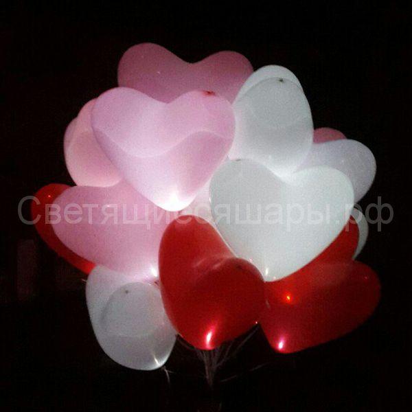 Светящиеся сердца с постоянной подсветкой (для запуска)