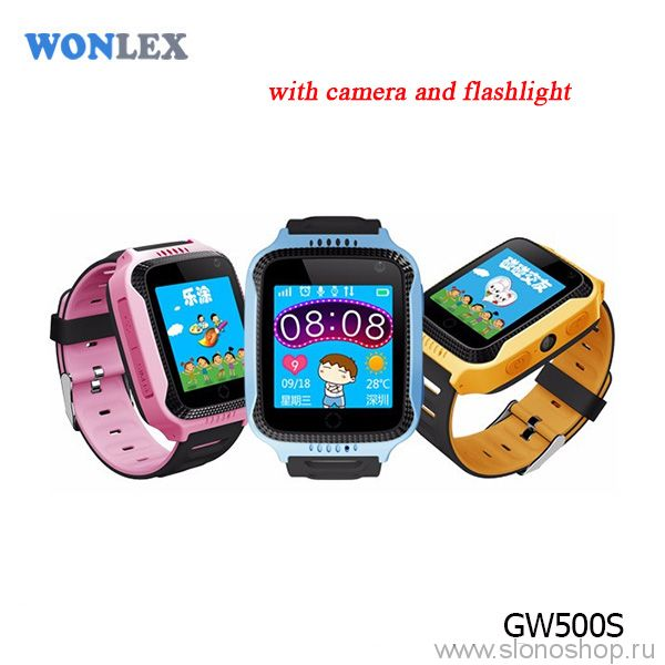 Детские умные часы smart baby watch GW500S фонарик и фотокамера Wonlex