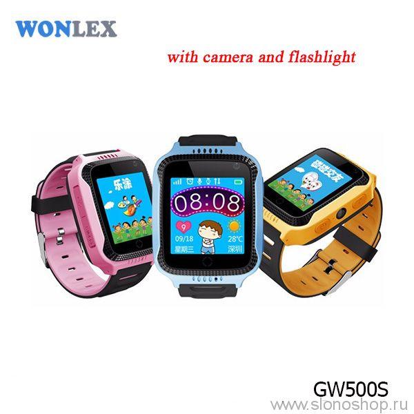 Детские умные часы smart baby watch GW500S фонарик и фотокамера Wonlex + ПОДАРОК