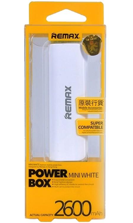 Внешний аккумулятор - Remax Mini Tube 2600mAh