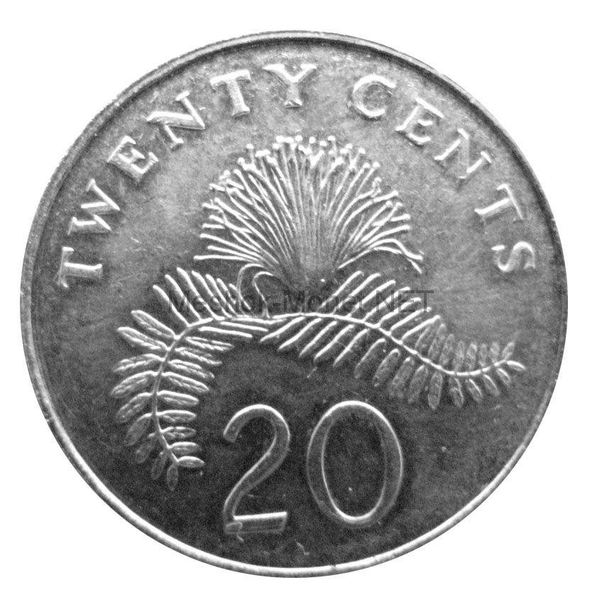 Сингапур 20 центов 2006 г.