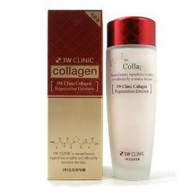 3W Clinic Collagen Regeneration Emulsion 150 мл - Эмульсия для лица с коллагеном регенерирующая