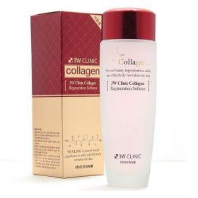 3W CLINIC Collagen Regeneration Softener 150ml - Тоник для лица регенерирующий с коллагеном