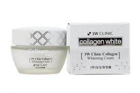 3W CLINIC Collagen Whitening Cream 50ml - Крем для лица осветляющий