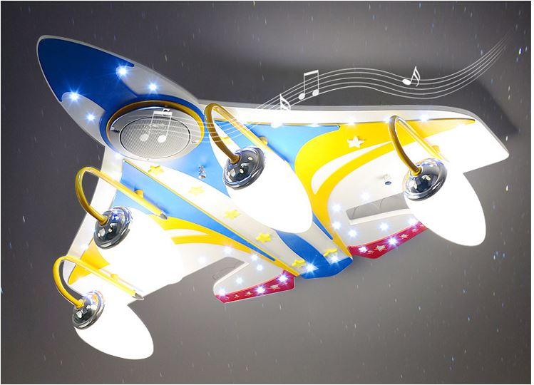 Светильник для детской Музыкальный самолет