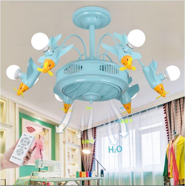 Светильник для детской с вентилятором Самолеты