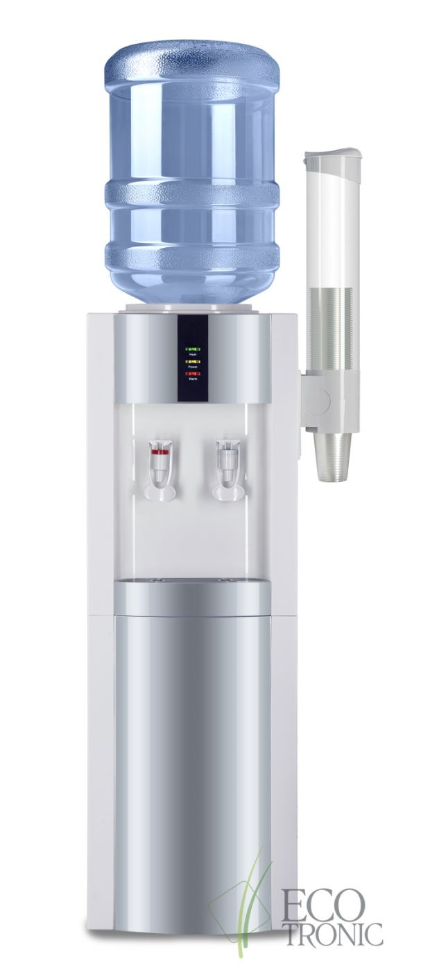 Кулер Ecotronic V21-LN white-silver