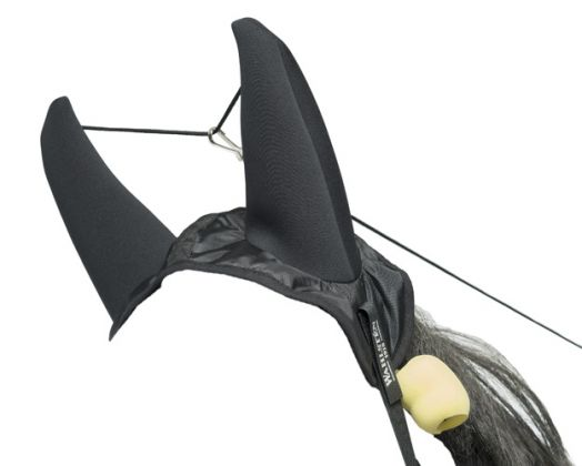 Ушки рысачьи комбинированные с телефонами. Нейлон + неопрен