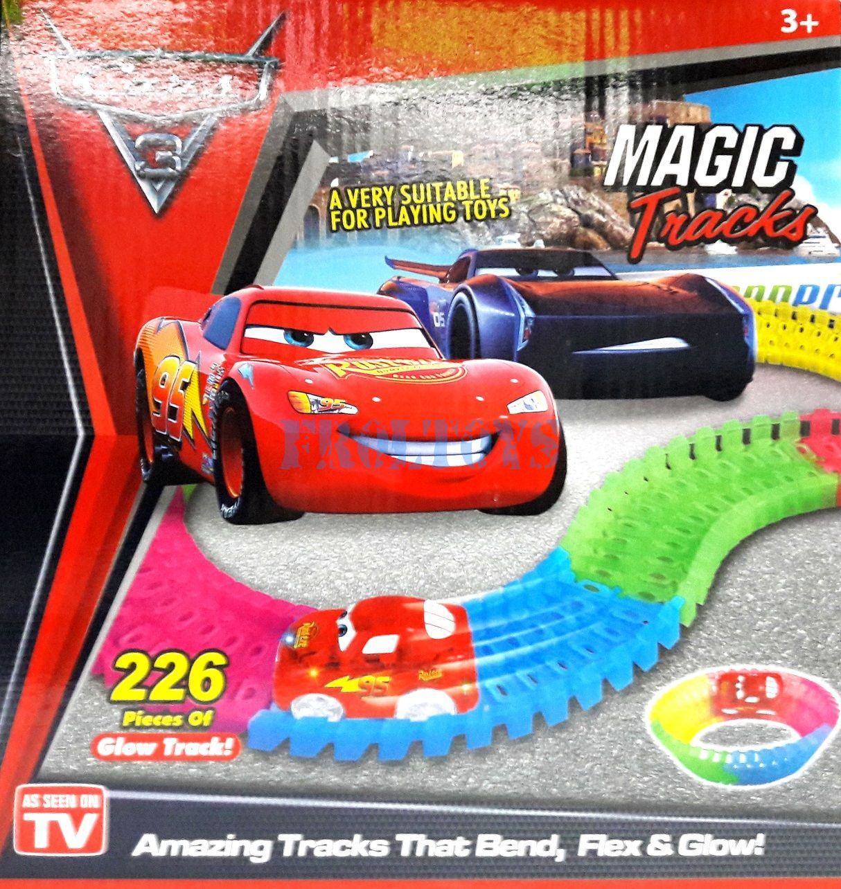 Гоночный трек Magic Track Cars 226 деталей Маквин