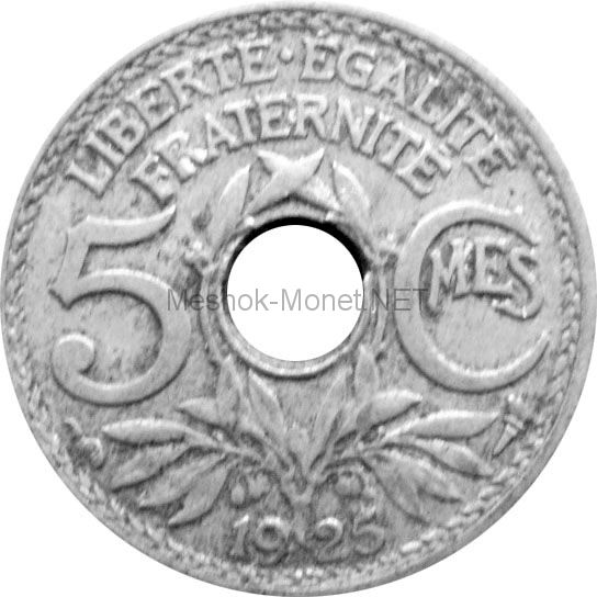 Франция 5 сентим 1930 г.