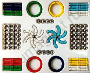 Купить развивающий конструктор магнитный для девочек и мальчиков - 126 деталей