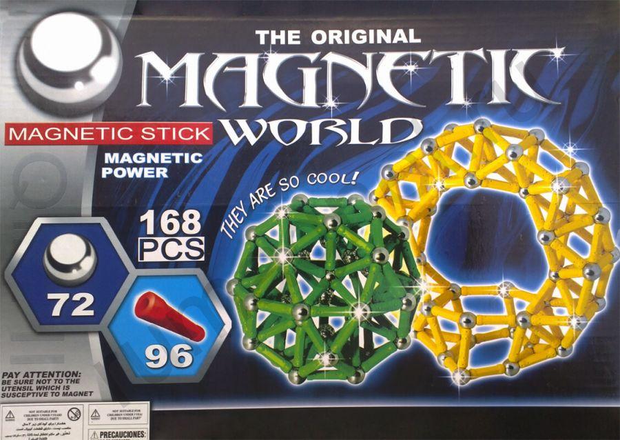 Магнитный конструктор 168 деталей