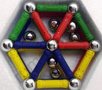 Купить магнитный конструктор набор 186 деталей