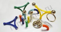 Игрушка магнитный конструктор 420 деталей - шарики и палочки