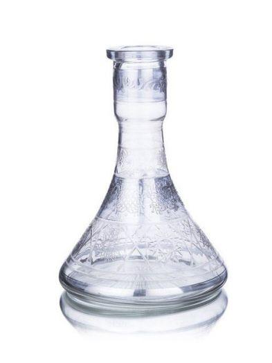 Колба для кальяна silver малая пирамида резная
