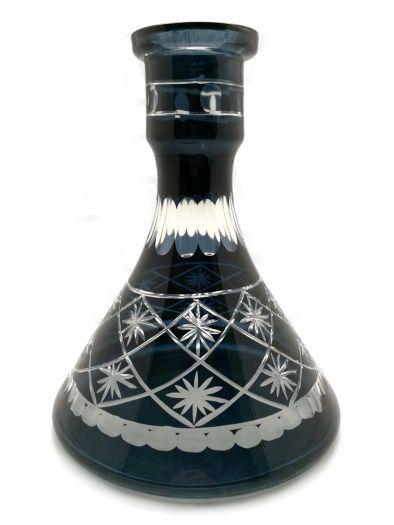Колба для кальяна Ager средняя пирамида нарезная черная