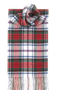 теплый шотландский шарф 100% шерсть ягнёнка , расцветка клан Макдуф MACDUFF DRESS MODERN TARTAN