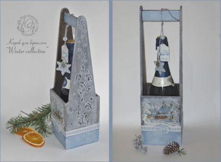 """Короб для бутылки """"Winter collection"""""""