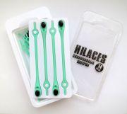 Cиликоновые шнурки для обуви Hilaces цвет Мятный/Черный в раскрытой упаковке