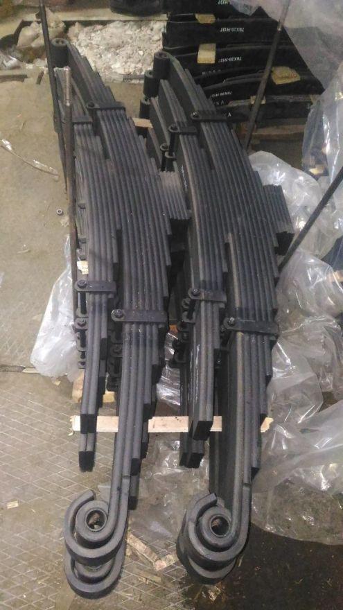 Рессоры новые задние 9+6листов L=1600 ш.80 d. вт28 Daewoo Novus Ultra