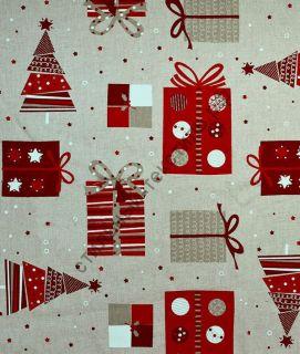 Новогодняя декоративная ткань CANIGO
