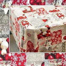 Новогодняя декоративная ткань KOLARI