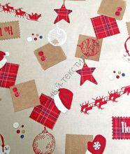 Новогодняя декоративная ткань THERMES