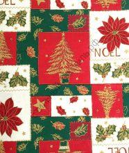 Новогодняя декоративная ткань PINO rojo