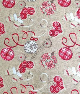 Новогодняя декоративная ткань ORDINO